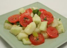 Tomato fennel and cucumber salad