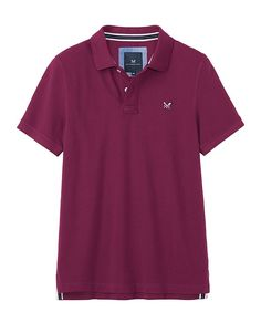 Men's Classic Pique Polo in Mulberry from Crew Clothing
