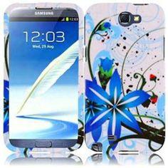 INSTEN For Samsung Galaxy S Note 2 N7100(AT & T) Design Case - Blue Splash