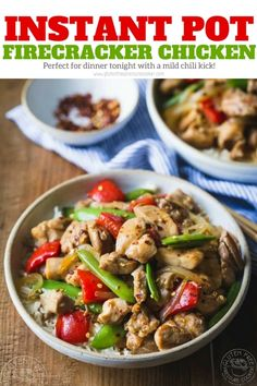 Instant pot Firecracker Chicken recipe - A wonderful explosion of fabulous Sweet, Hot and Savory flavors blend together to make this easy weeknight Instant Pot Firecracker Chicken Recipe! A Panda Express Copycat recipe. Gluten free, Dairy Free, and can be made paleo with a couple of tweaks that are listed in the recipe. | www.glutenfreepressurecooker.com | #instantpot #instapot #electricpressurecooker #glutenfreepressurecooker #glutenfreeinstantpot #glutenfree