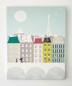 Paris  Textiles Canvas Print by lauraamiss