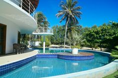 The lovely, private swimming pool of Villa Cacau.