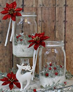 Holiday Mason Jar Luminary