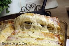 *Riches to Rags* by Dori: Green Chile and Pepper Jack Cheese Chicken Enchiladas