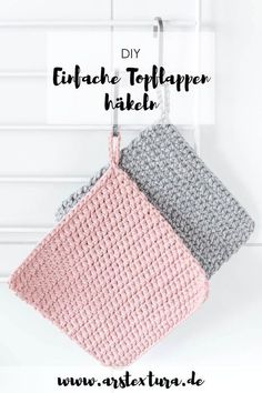Nachhaltigkeit Crochet Instructions: Crochet potholders – a great DIY project for beginners with video instructions homemade potholders are a great DIY gift for Christmas or. Beginner Knitting Projects, Diy Projects For Beginners, Knitting For Beginners, Sewing Projects, Beginner Crochet, Crochet Crafts, Fabric Crafts, Homemade Potholders, Knitting Patterns