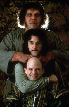 André the Giant, Mandy Patinkin y Wallace Shawn en The Princess Bride