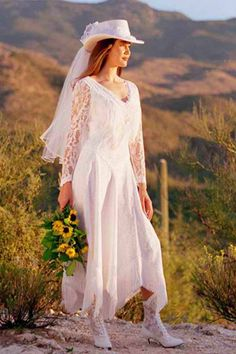 Country Wedding Dresses - but with different boots and no hat