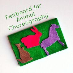 Feltboard for Animal Choreography DIY from www.Crafterina.com