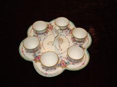 Antique Royal Worcester Egg Cups And Holder ♥♥♥♥ ♥♥♥♥