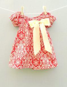 Girls Christmas Dress Toddler Christmas Dress by flowerbubbles, $29.95