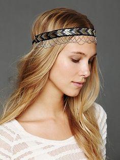 Beaded Chain Headband. http://www.freepeople.com/whats-new/beaded-chain-headband/