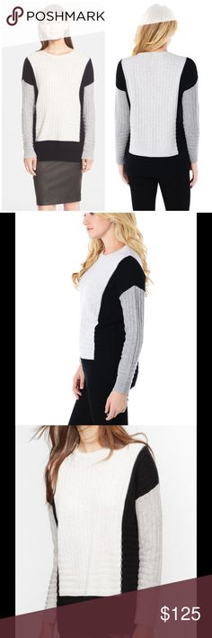 """🆕 Vince cashmere Colorblock intarsia Crewneck Directional ribbing adds texture to the color-blocked planes of this dropped-shoulder pullover crafted from a cozy blend of wool and cashmere. - 27"""" length  - Long sleeves - 70% wool, 30% cashmere True to size. L=12 Brand new with tag. Retail price $375. Vince Sweaters Crew & Scoop Necks"""