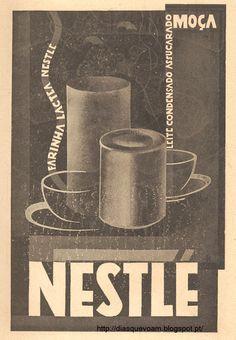 Bela ilustração publicitária da Nestlé, aparecida no Magazine Civilização (Portugal), em 1928.