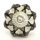 Black white grey ceramic knobs drawer pull cupboard door knobs porcelain china