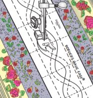 Quilting Made Easy - The roll with the quilting design printed on it is 26 feet long, with adhesive strips on the edges. The adhesive leaves no residue on your quilt and can be repositioned several times.