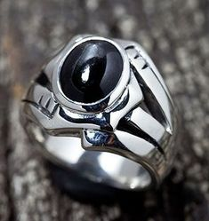 Sterling silver Onyx ring.