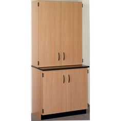 Stevens ID Systems Science 4 Door Storage Cabinet Color: Western Iron, Finish: Maple