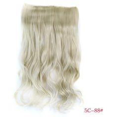 Trendy Long Wave Hoar Clip-In Heat Resistant Synthetic Women's Hair Extension #>=#>=#>=#>=#> Click on the pin to check out discount price, color, size, shipping, etc. Save and like it!