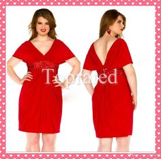 Wholesale New Plus Size Red Cocktail Dresses V Neck Beads Sash Sheath Short Chiffon Party Prom Gowns Hot Sale Cheap Custom Made Sexy Formal Dresses, Plus Size Formal Dresses, Plus Size Evening Gown, Evening Dresses, Buy Dress, Dress For You, Dresser, Red Cocktail Dress, Beaded Chiffon