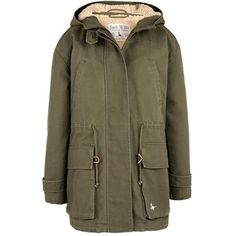Bawsey Parka found on Polyvore featuring polyvore, fashion, clothing, outerwear, coats, jack wills, jackets, parka, huntng grn and lined parka coat
