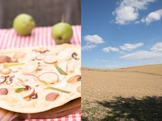 Herbstlicher Flammkuchen mit Ziegenkäse Pizza Burgers, Germany, Table Decorations, Fruit, Recipes, Blog, Backen, Brunch Recipes, Pear
