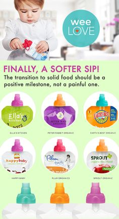 Finally, a softer sip! The transition to solid food should be a positive milestone, not a painful one | Want to get weeLove in your inbox? www.wee.co/weelove