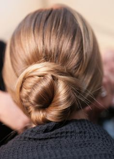 a basic bun saves any bad hair day! not to mention, it looks effortlessly gorgeous with a berry lip & chunky sweater for fall. Bun Hairstyles, Pretty Hairstyles, Style Hairstyle, Updo Hairstyle, Wedding Hairstyle, Hair Wedding, Bridal Hair, Hair Styles 2016, Long Hair Styles