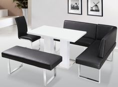 Heartlands Liberty High Gloss With Stainless Steel Base Table Chair Corner Bench With Back Bench With No Back Set Corner Bench Dining Table, Glass Dining Table, Extendable Dining Table, Dining Table Chairs, Dining Room Furniture, Furniture Sets, Nook Table, Dining Sets, Booth Dining Table