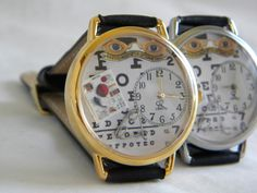 Optometrist Watch with vintage glasses sign by SunnyRiverCreations, $35.00