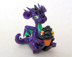 Halloween Dragon with Cupcake by *DragonsAndBeasties on deviantART: