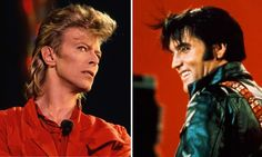 Composite: David Bowie performing in France in 1987, Elvis Presley performing on the Elvis comeback TV special in 1968
