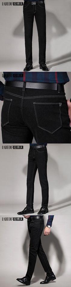 men's Jeans men 2016 Labeouf Fashion Long casual straight men Jeans Masculina Straight Slim Cotton Denim Jeans for men size29-40