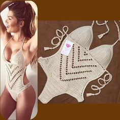 70 Super Ideas For Crochet Bikini Pattern Monokini Motif Bikini Crochet, Crochet Bra, Crochet Clothes, Crochet Monokini, Mobiles En Crochet, Crochet Mobile, Crochet One Piece, Lingerie Crochet, Crochet Bathing Suits