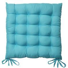 Set da 8 comodi cuscini da sedia, Lea - soffici e confortevoli - ideali in casa e in giardino - 40x40x5 cm - turchese: euro 47,99