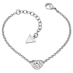 Guess Crystals Of Love Ladies Bracelet UBB51413 #Guess #Silver #Bracelet #Love #Heart