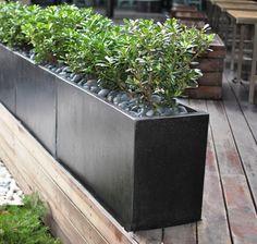 Fiberglass pots for 2nd floor Potted plants