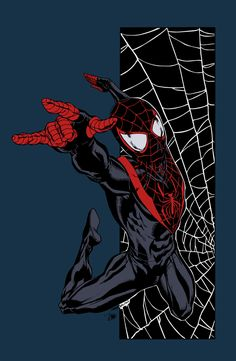 Ultimate Spider-Man by Sheldon Goh (Colored) by edCOM02.deviantart.com on @DeviantArt