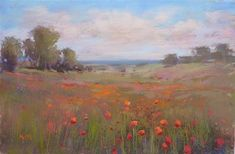 "Daily+Paintworks+-+""Behind+the+Scenes:+Painting+the+Poppies+of+Normandy""+-+Original+Fine+Art+for+Sale+-+©+Karen+Margulis"