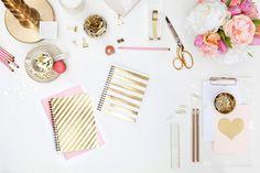 8   Kate Spade   Glam Decor   Gold Pink   Office Design   Workspace Ideas