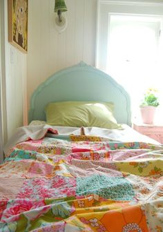 Vintage Sheet/Fabric Quilt