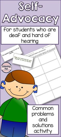Self advocacy for students who are deaf or hard of hearing. Deaf Education Activities, Life Skills Activities, Autism Resources, Teaching Activities, Speech Language Pathology, Speech And Language, Sign Language, Hearing Impairment, Self Advocacy