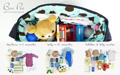What's in my nappy bag? #BabyChangingBag by Boo Poo