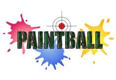 Paintball Logo vector art illustration