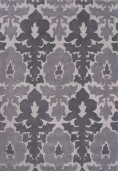 Jaipur Rugs Transitional Floral Pattern Gray Polyester Area Rug DEV08 (Rectangle)