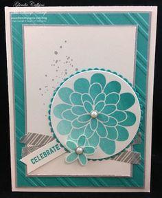 Stampin' Up! Flower Patch The Stamp Camp - Glenda Calkins Stampin Up! Demonstrator New Ombre Ink Pad Bermuda Bay