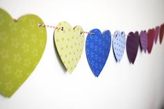 Heart Paper Bunting, one to try this holidays with my daughters