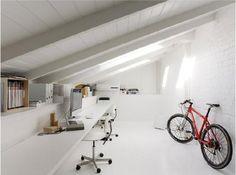 attic work space.