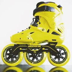 Black and yellow Imperial Megacruiser - www.moooves.com TheRightMoves #moooves #therightmoves #onlinestore #shop #inline #inlinespeedskating #fitness #skateboard #powerslide #3wheels #imperialmegacruiser