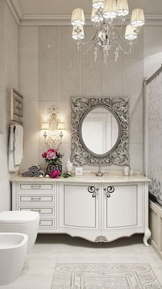 cool Bathroom Neoclassical White on Behance...