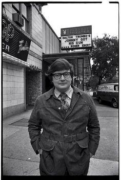 Roger Ebert outside Chicago's Playboy Theater (1971).